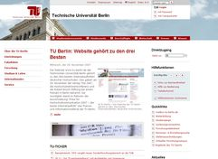 "Screenshot der TUB-Website mit ""Bild im Bild"""